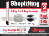 Bullseye Protection G-Tag Hard Tag Package - Rent for as low as $95 per month!!!
