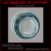 "UC 206-20 1 1/4"" ""Flat Top"" Ceramic Axle Bearing"