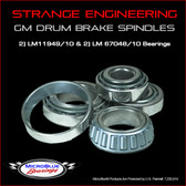 Strange GM Drum Brake Spindle Bearings (LM11949/10 & LM67048/10)