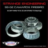 Strange 93-02 Camaro & Firebird Bearings (LM11949/10 & LM67048/10)