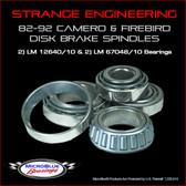 Strange 82-92 Camaro & Firebird Bearings (M12649/10 & LM67048/10)