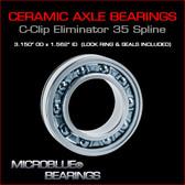 C-Clip Eliminator Ceramic Ball Bearing For 35 Spline Axles.
