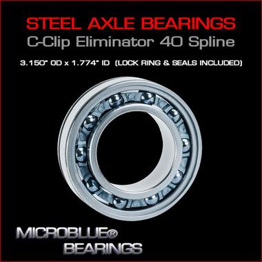 C-Clip Eliminator Steel Ball Bearing For 40 Spline Axles.