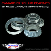Camaro 67-78 Bearings (LM11949/10 & LM67048/10)