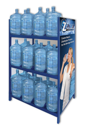 5 Gallon Water Bottle Heavy Duty Storage Shelving Holds 36