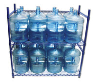 Ordinaire 5 Gallon Water Bottle Storage Rack With 16 Bottle Capacity