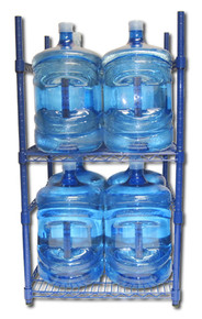 5 Gallon Water Bottle Storage Rack with 8 Bottle Capacity
