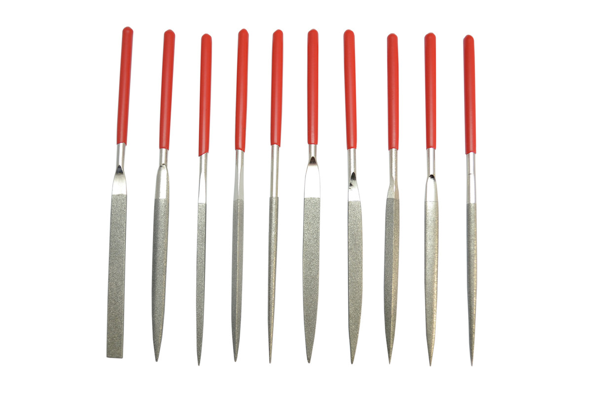 10Pc QUALITY NEEDLE FILE SET DEBURR THIN SMALL LARGE SQUARE ROUND WOOD METAL