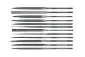 Grobet USA Needle File Set, 10 cm, Cut 2, Set of 12, Item No. 31.673