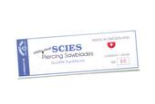 Scies Brand, Swiss Jewelers Sawblades, Size 7/0, Item No. 49.401