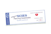 Scies Brand, Swiss Jewelers Sawblades, Size 5/0, Item No. 49.403