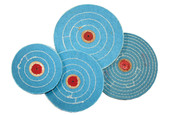 "Blue Muslin Buff, 4"" x 50 Ply, Item No. 17.510"