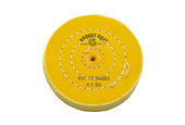 "Yellow Chemkote Buff, 4"" x 60 Ply, Shellac Center, Item No. 17.54001"