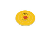 "Yellow Chemkote Buff, 5"" x 20 Ply, Shellac Center, Item No. 17.54002"