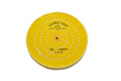"Yellow Chemkote Buff, 5"" x 40 Ply, Shellac Center, Item No. 17.54004"