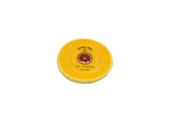 """Yellow Chemkote Buff, 4"""" x 20 Ply, Leather Center, Item No. 17.55103"""