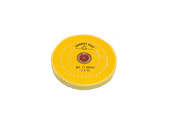 "Yellow Chemkote Buff, 5"" x 40 Ply, Leather Center, Item No. 17.55405"
