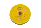 "Yellow Chemkote Buff, 5"" x 60 Ply, Leather Center, Item No. 17.55601"