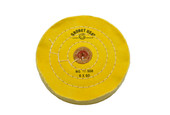 "Yellow Chemkote Buff, 6"" x 60 Ply, Leather Center, Item No. 17.558"