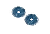 "3M 3-Radial Bristle Discs, 2"" Diameter, 400 Grit, Blue, Item No. 10.3520"