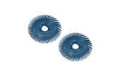 """3M 3-Radial Bristle Discs, 2"""" Diameter, 400 Grit, Blue, Item No. 10.3520"""