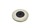 """3M 3-Radial Bristle Discs, 6"""" Diameter, 120 Grit, White, Item No. 10.3532"""