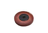 """3M 3-Radial Bristle Discs, 6"""" Diameter, 220 Grit, Red, Item No. 10.3533"""