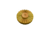 "Crimped Brass Wire Brush, 3 Rows of Wire, 4"" Diameter , Item No. 16.444"