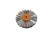 "Straight Steel Wire Brush, 2 Rows of Wire, 4"" Diameter , Item No. 16.457"