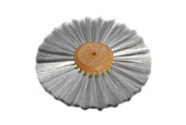 """Straight Steel Wire Brush, 2 Rows of Wire, 6"""" Diameter , Item No. 16.458"""