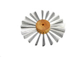 "Satin Finish Brush, Steel Wire, 5"" Overall Diameter , Item No. 16.472"