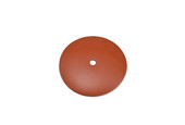 "Red Silicon Pad, 5-1/2"" Diameter, 1/2"" Hole, Item No. 21.809"