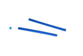 Cowdery Profile Wax, 6 Prong,8 MM, Blue, Item No. 21.939