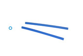 Cowdery Profile Wax, Round Tube, 2.5 MM, Blue, Item No. 21.917