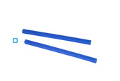 Cowdery Profile Wax, Square Tube, 2.5 MM, Blue, Item No. 21.925