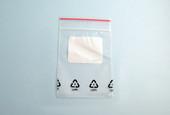 "Mini-Grip Zip Bag with White Label Block, 3"" x 4"", Box of 1000, Item No. 61.132"