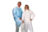 Disposable Coats, Blue, Large, Pack of 10, Item No. 47.362