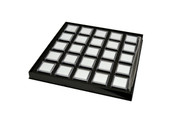 Gem Tray with 25 Boxes, Black, Item No. 61.460