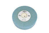 "Soft Nylon Flap Wheel, Super Fine, 4"" x 1"", Item No. 17.806"