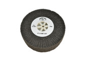 "Silicon Oxide Flap Wheel, Fine, 4"" x 1-3/8"", Item No. 17.811"