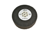 "Silicon Oxide Flap Wheel, Super Fine, 4"" x 1-3/8"", Item No. 17.813"