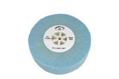 "Soft Nylon Flap Wheel, Super Fine, 4"" x 1-1/2"", Item No. 17.816"