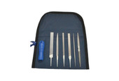Grobet USA® Precision File 6 Piece Set with Handle, Item No. 31.013