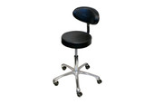 Pneumatic Stool with Padded Back Support, Item No. 13.065