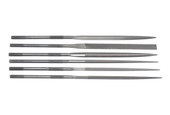 Grobet USA 20cm, 6-pc Needle File Set, Cut 0, Item No. 31.68301