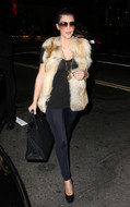 LNA Olivia leggings in Licorice Black as seen on Kim Kardashian