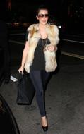LNA Olivia leggings in Licorice Black as seen on Kim Kardashian