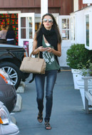Wildfox White Crest Boyfriend Tank in Militant as seen on Alessandra Ambrosio