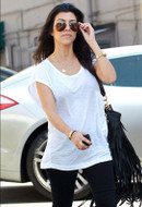 Sugarbean Jewelry Sideways Cross Necklace in Rose gold as seen on Kourtney Kardashian