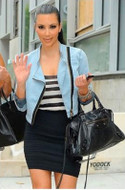 Pleasure Doing Business 5 Band Skirt in Black as seen on Kim Kardashian